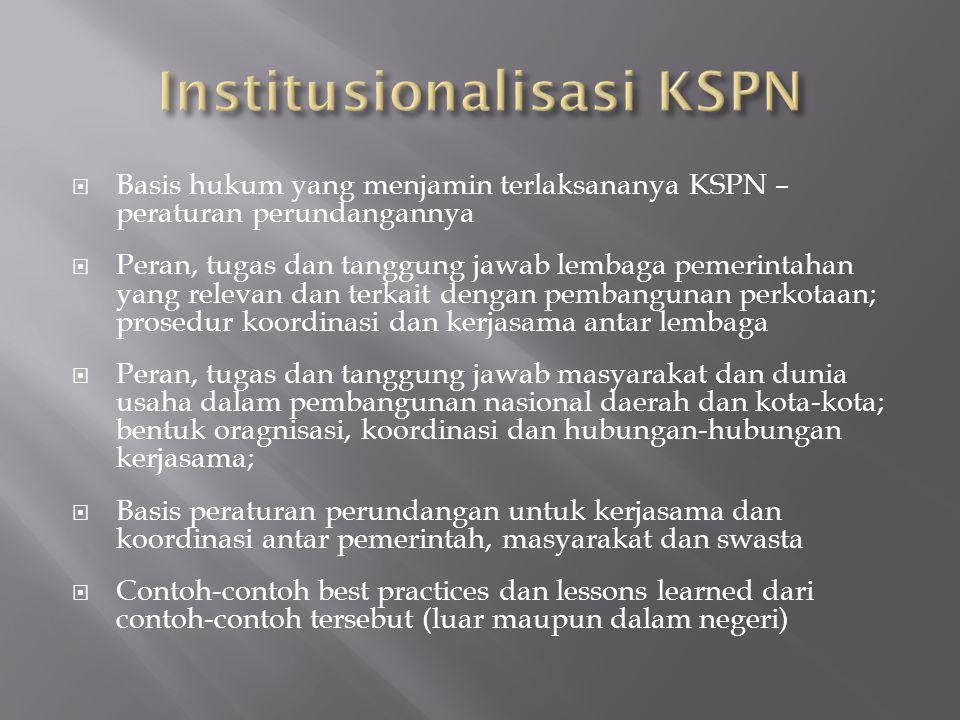 Institusionalisasi KSPN