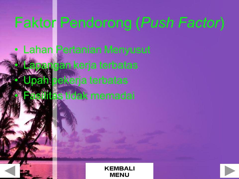 Faktor Pendorong (Push Factor)