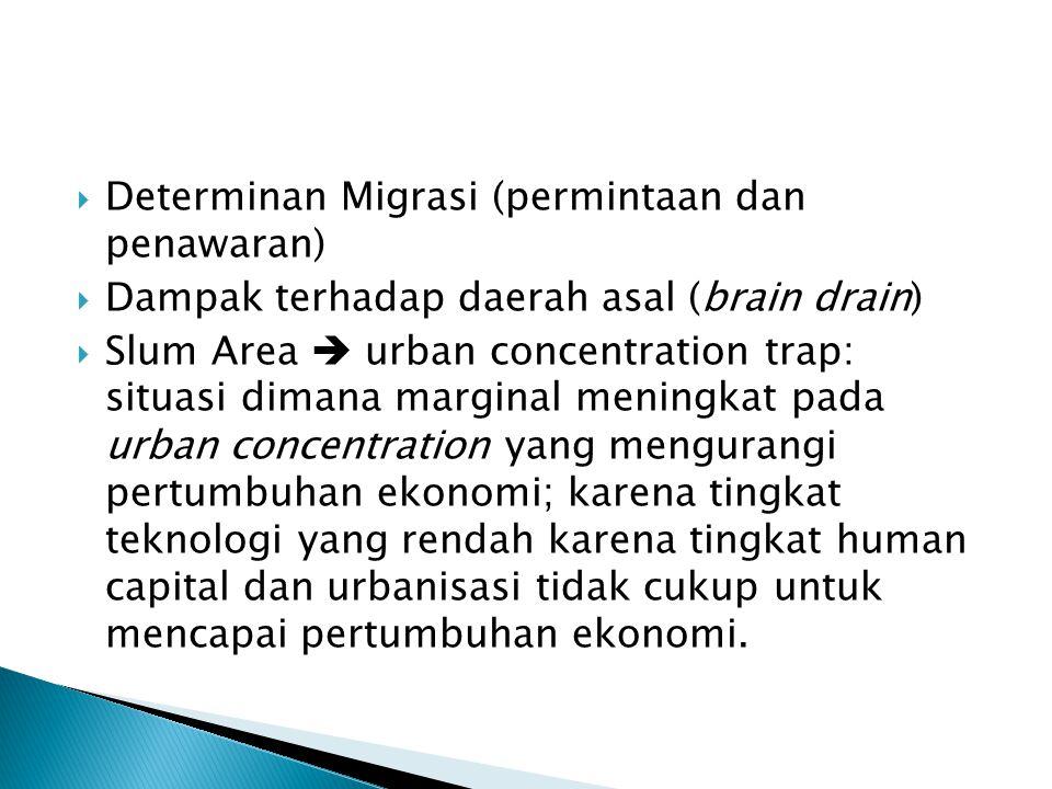 Determinan Migrasi (permintaan dan penawaran)