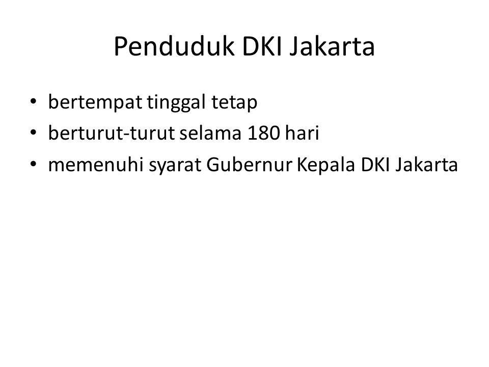 Penduduk DKI Jakarta bertempat tinggal tetap