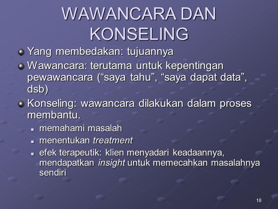 WAWANCARA DAN KONSELING