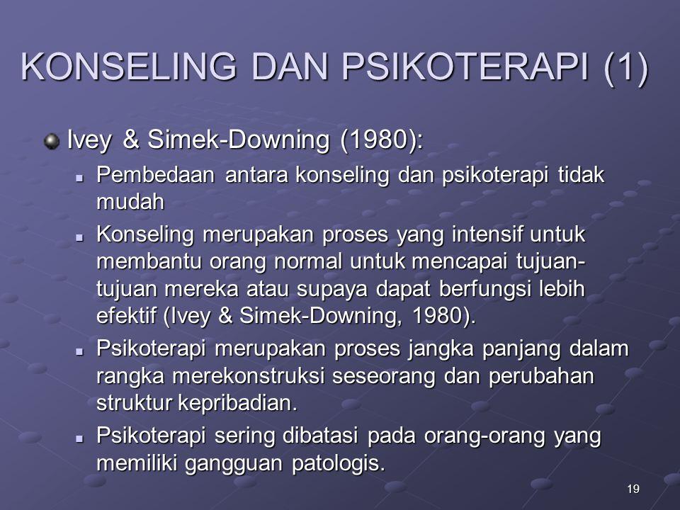 KONSELING DAN PSIKOTERAPI (1)