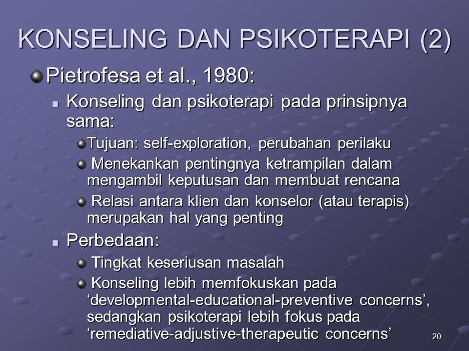 KONSELING DAN PSIKOTERAPI (2)