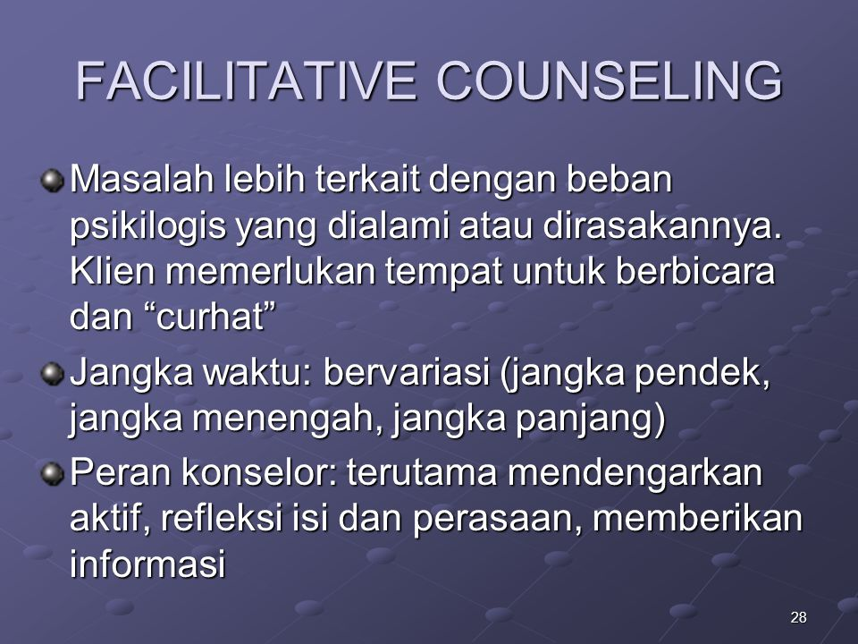 FACILITATIVE COUNSELING
