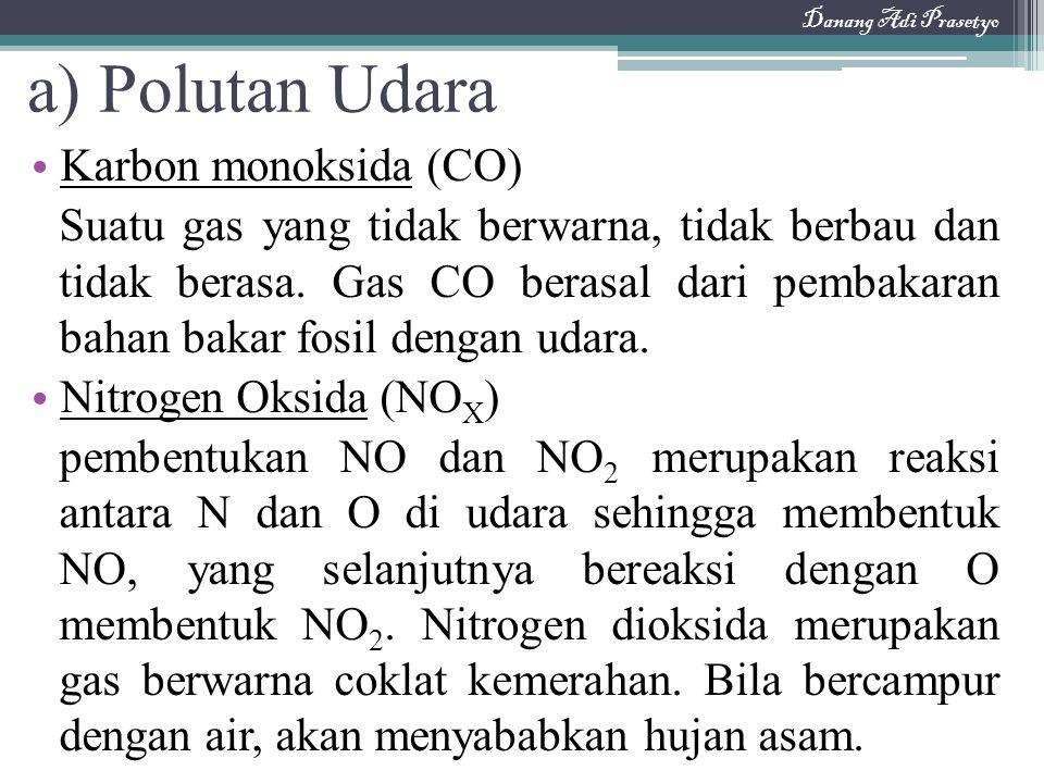 a) Polutan Udara Karbon monoksida (CO)