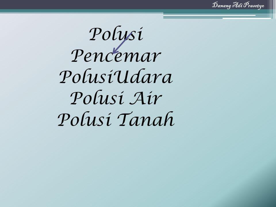 Polusi Pencemar PolusiUdara Polusi Air Polusi Tanah