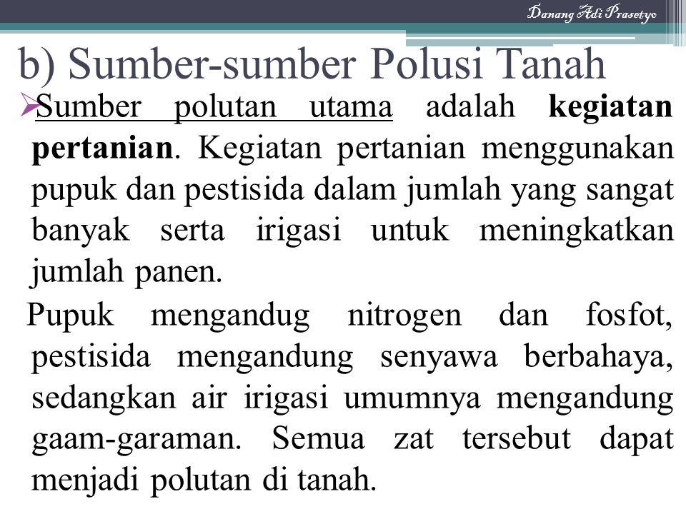 b) Sumber-sumber Polusi Tanah