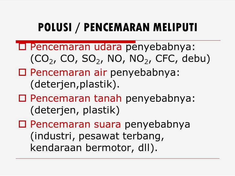 POLUSI / PENCEMARAN MELIPUTI
