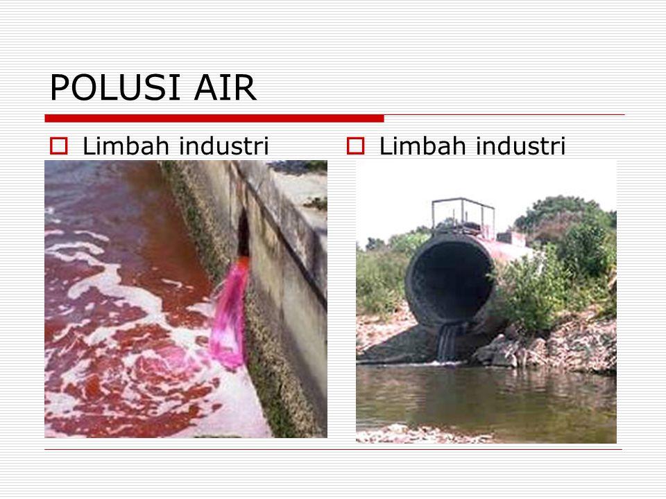 POLUSI AIR Limbah industri Limbah industri