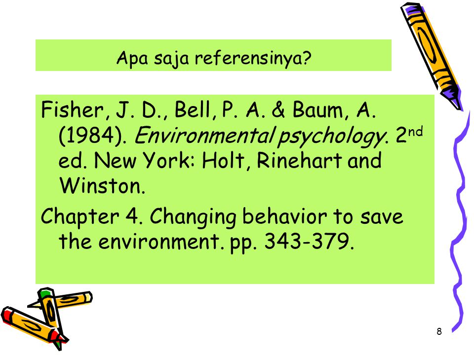 Chapter 4. Changing behavior to save the environment. pp. 343-379.
