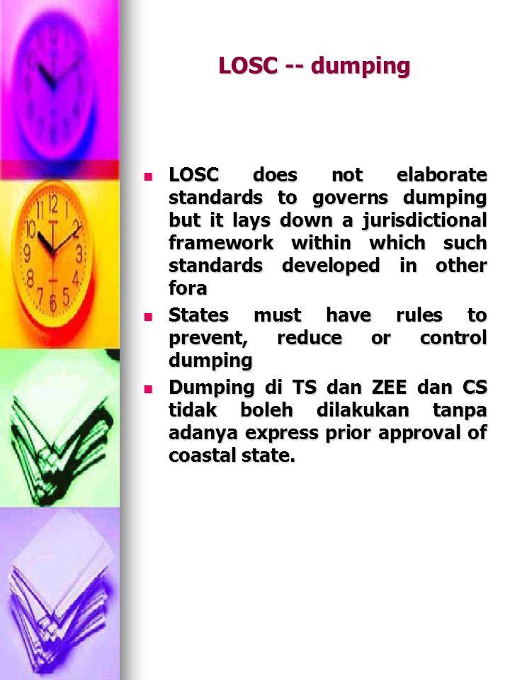 LOSC -- dumping