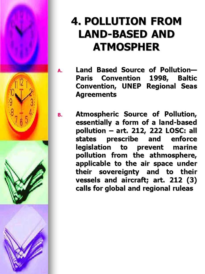 4. POLLUTION FROM LAND-BASED AND ATMOSPHER