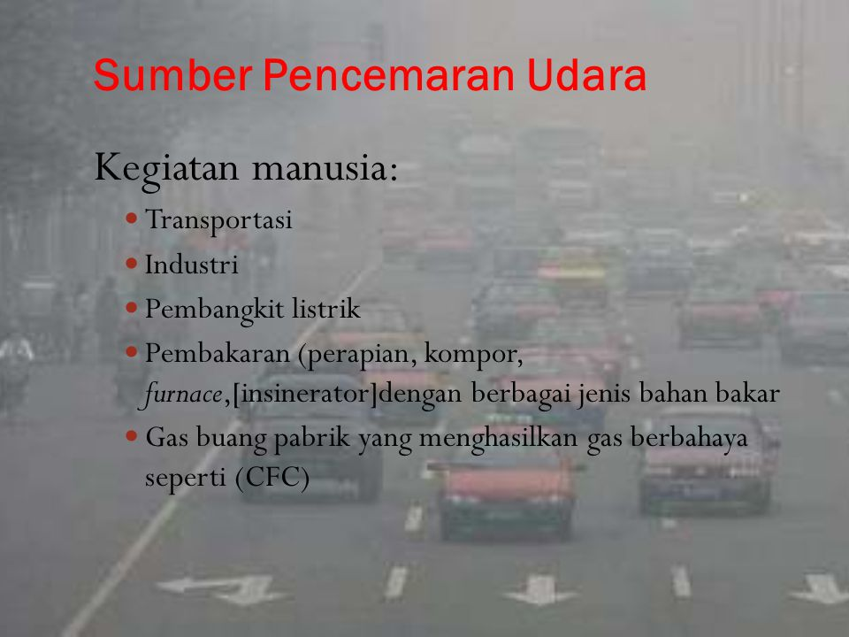 Sumber Pencemaran Udara