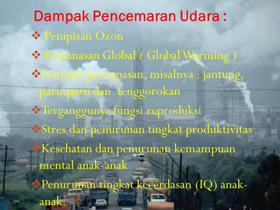 Dampak Pencemaran Udara :