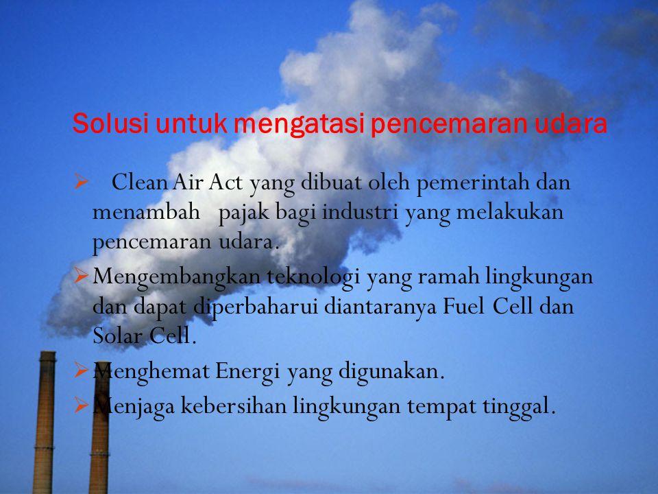 Solusi untuk mengatasi pencemaran udara