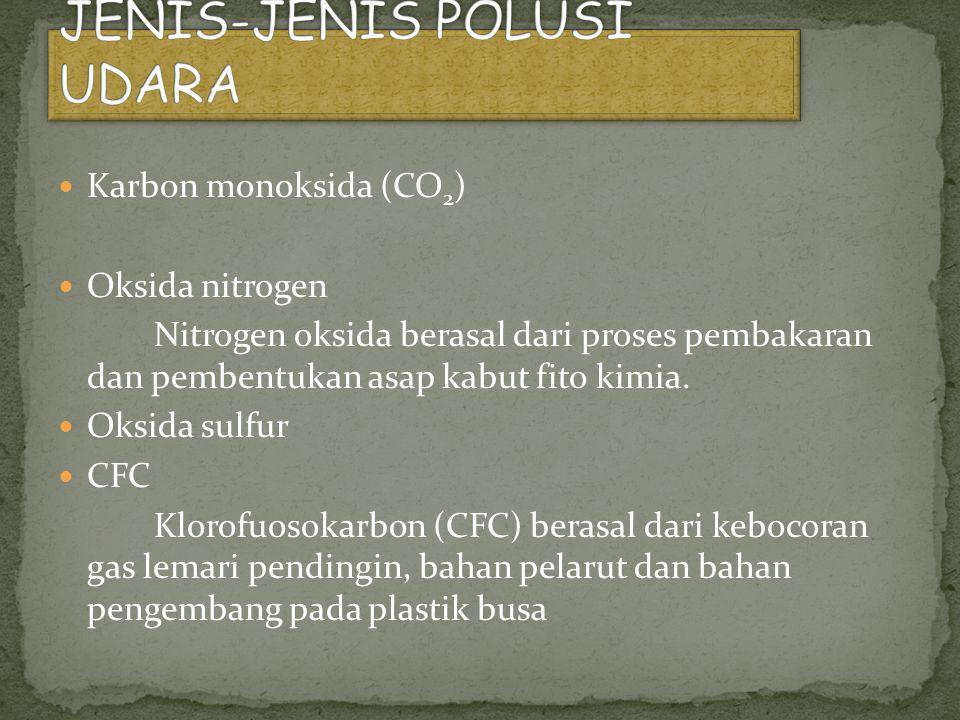 JENIS-JENIS POLUSI UDARA