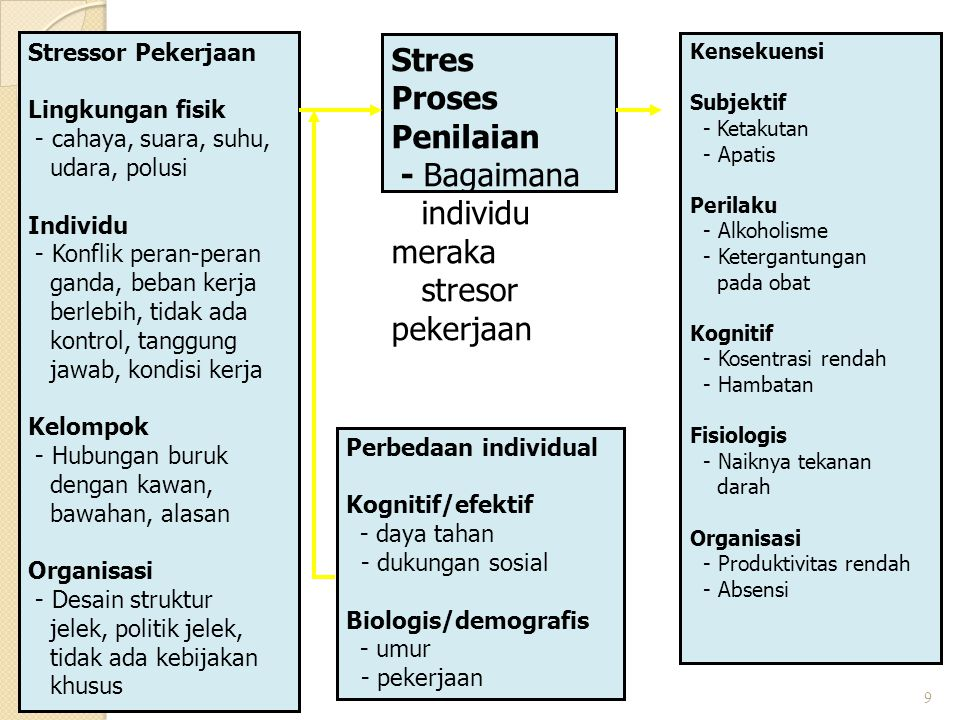 Stres Proses Penilaian - Bagaimana individu meraka stresor pekerjaan