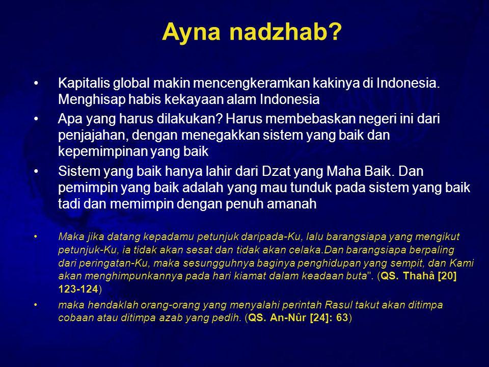 Ayna nadzhab Kapitalis global makin mencengkeramkan kakinya di Indonesia. Menghisap habis kekayaan alam Indonesia.