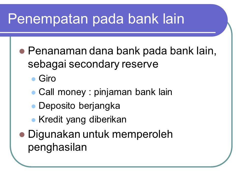 Penempatan pada bank lain