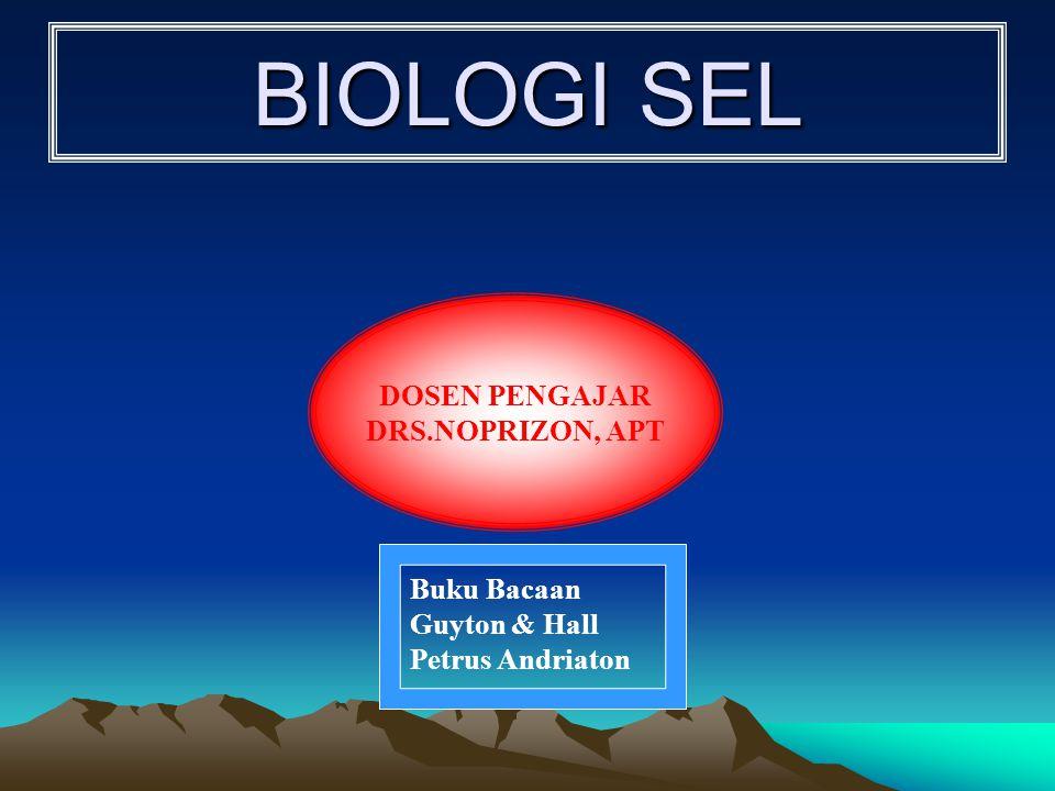 BIOLOGI SEL DOSEN PENGAJAR DRS.NOPRIZON, APT Buku Bacaan Guyton & Hall