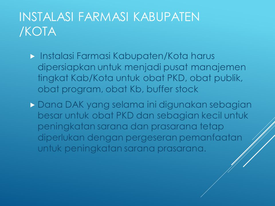 Instalasi Farmasi Kabupaten /Kota