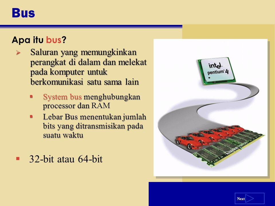 Bus 32-bit atau 64-bit Apa itu bus