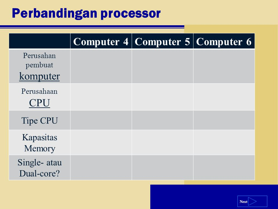 Perbandingan processor