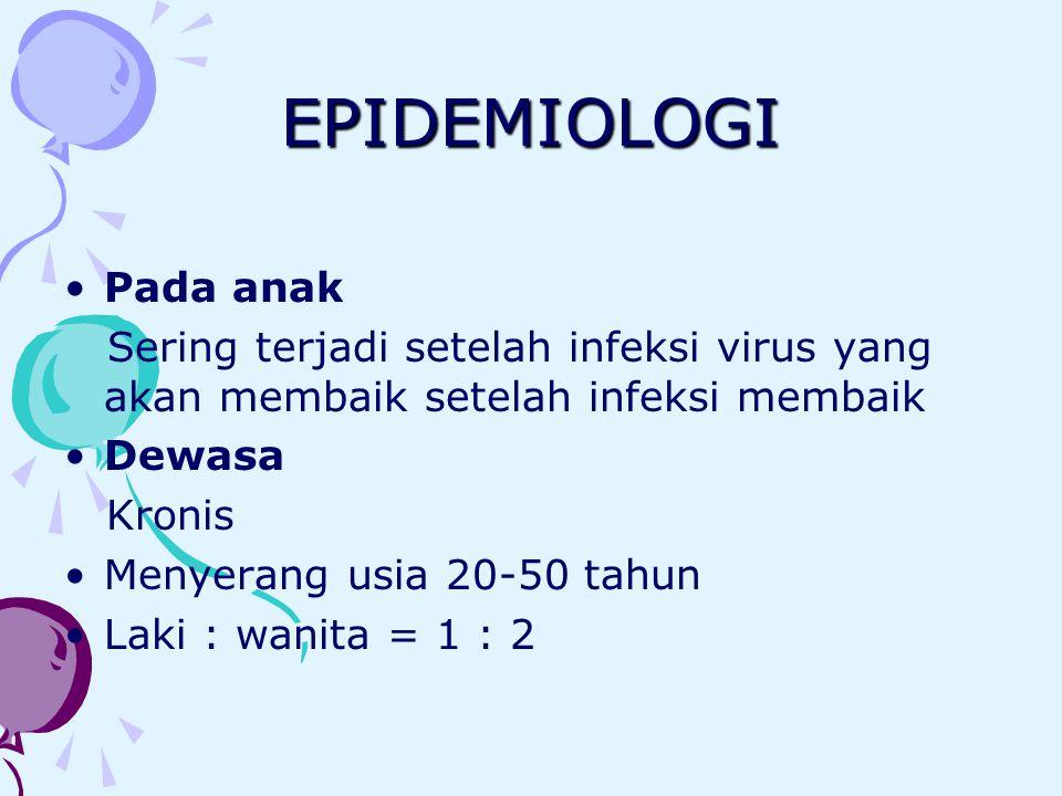 EPIDEMIOLOGI Pada anak