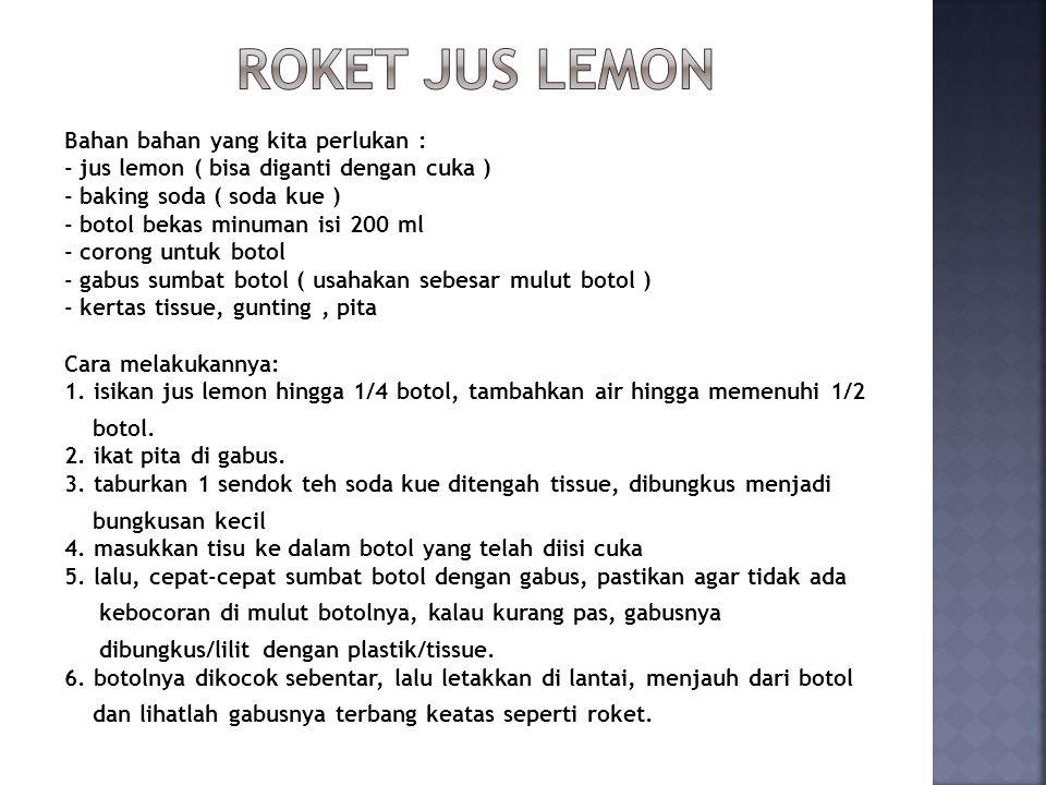 Roket Jus Lemon
