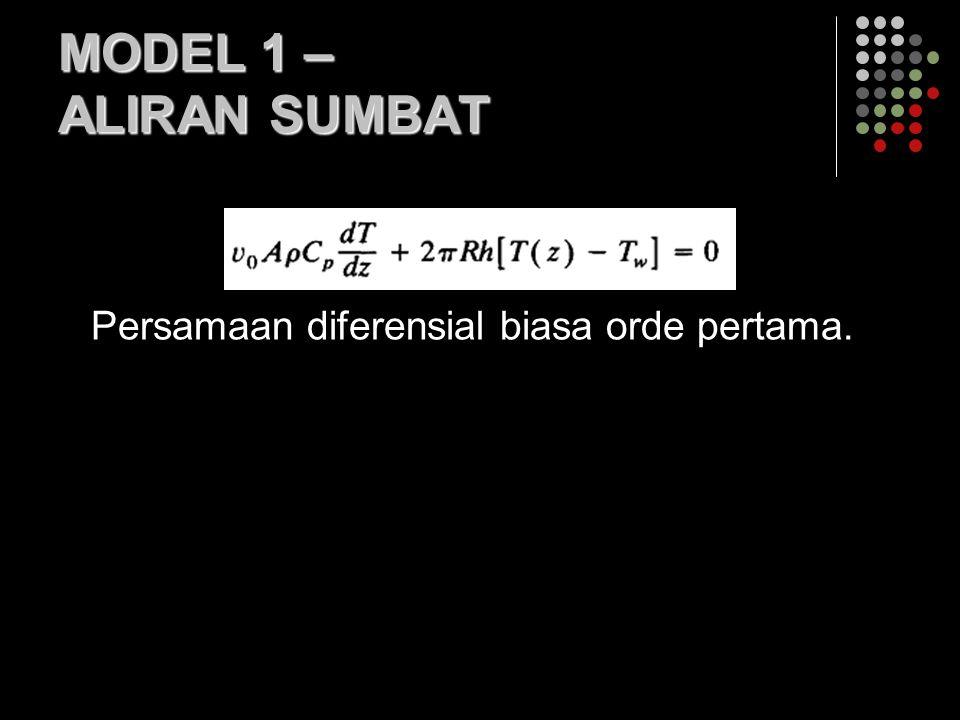 MODEL 1 – ALIRAN SUMBAT Persamaan diferensial biasa orde pertama.