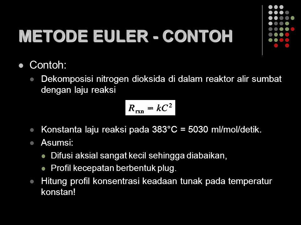 METODE EULER - CONTOH Contoh: