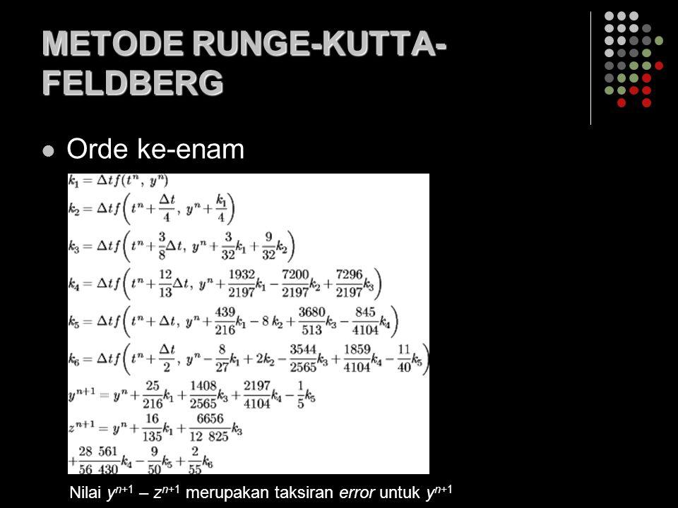 METODE RUNGE-KUTTA-FELDBERG