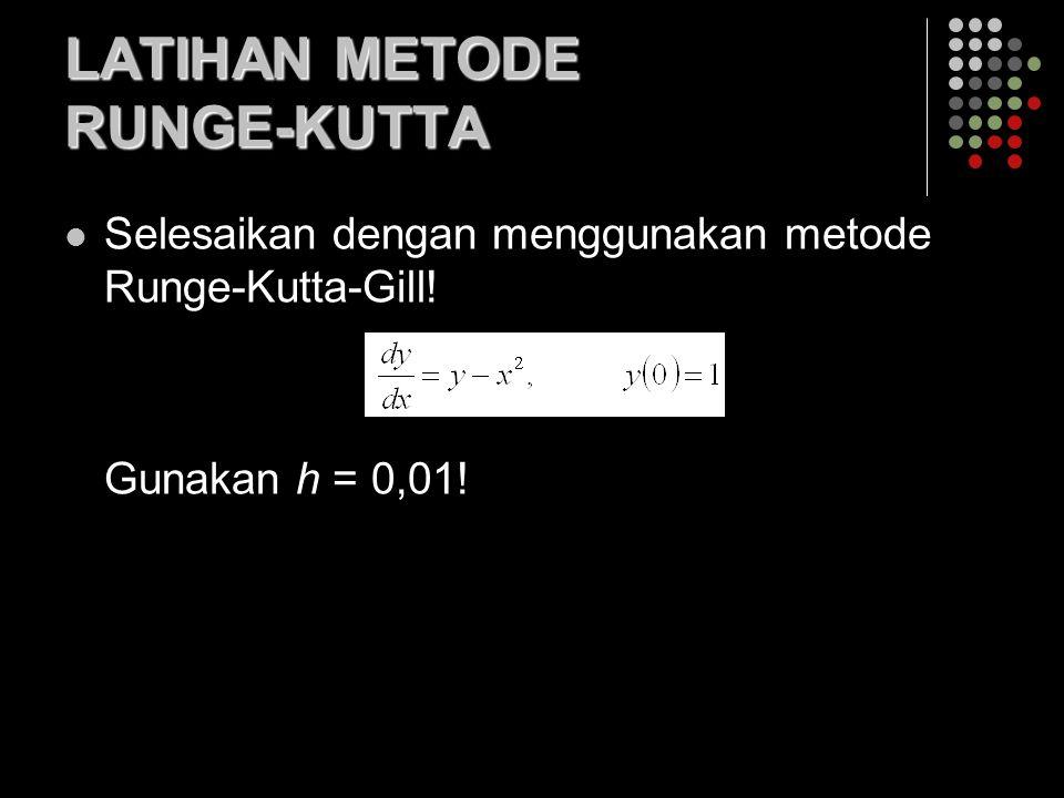 LATIHAN METODE RUNGE-KUTTA