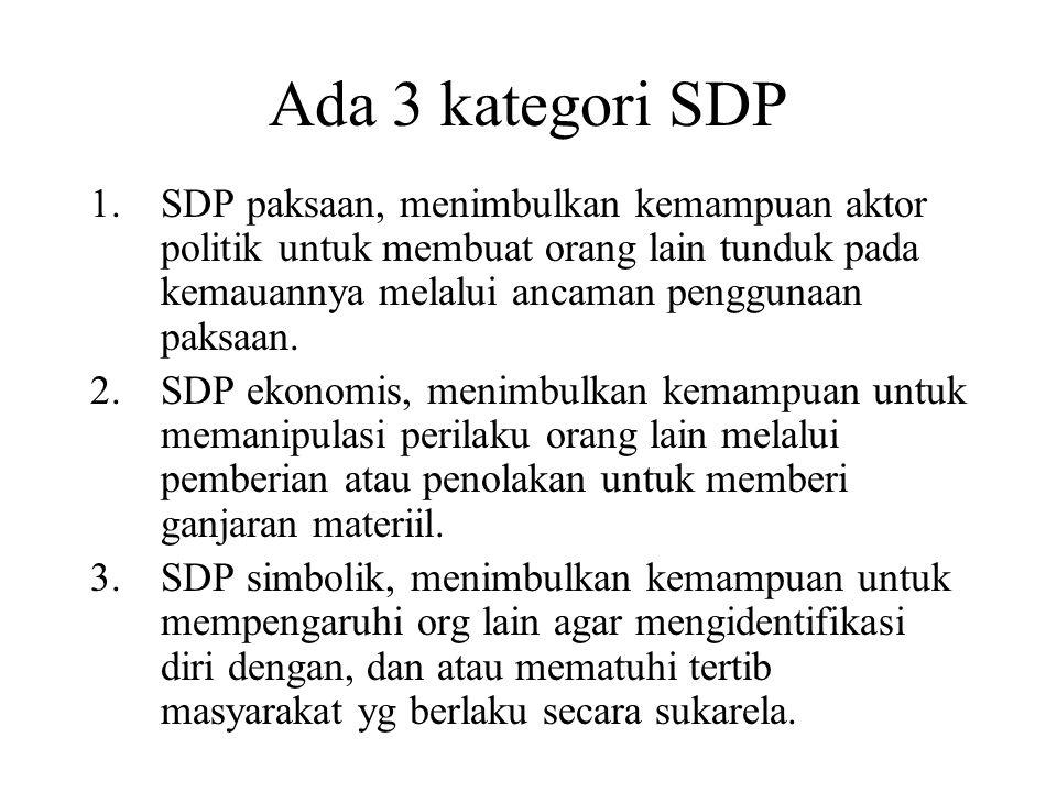 Ada 3 kategori SDP