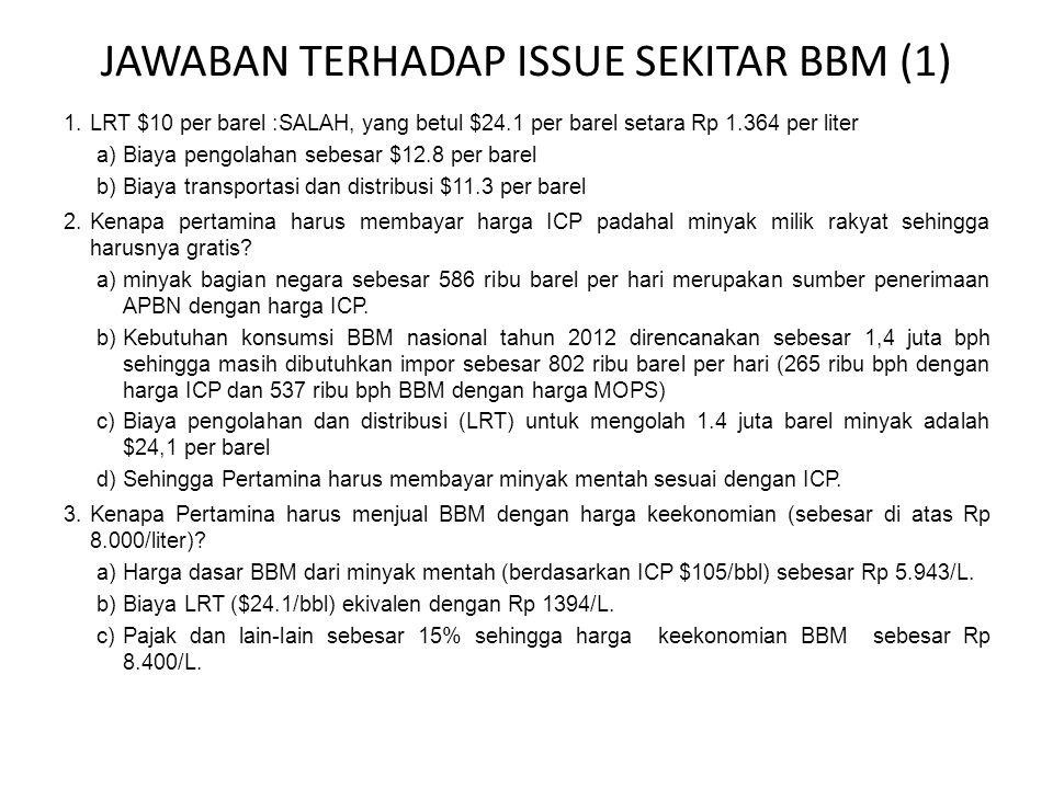 JAWABAN TERHADAP ISSUE SEKITAR BBM (1)