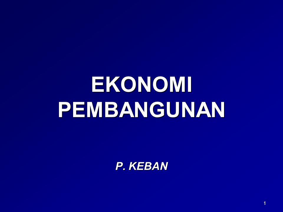 EKONOMI PEMBANGUNAN P. KEBAN