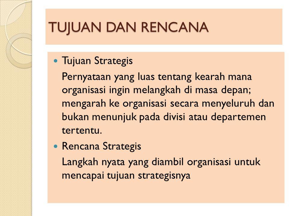 TUJUAN DAN RENCANA Tujuan Strategis