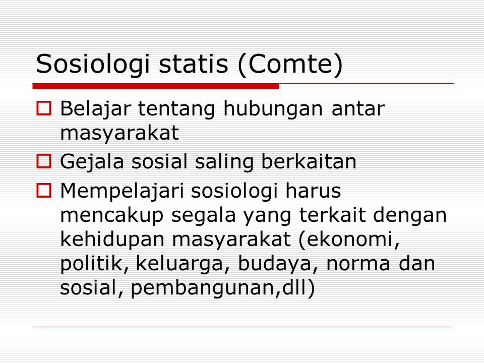 Sosiologi statis (Comte)