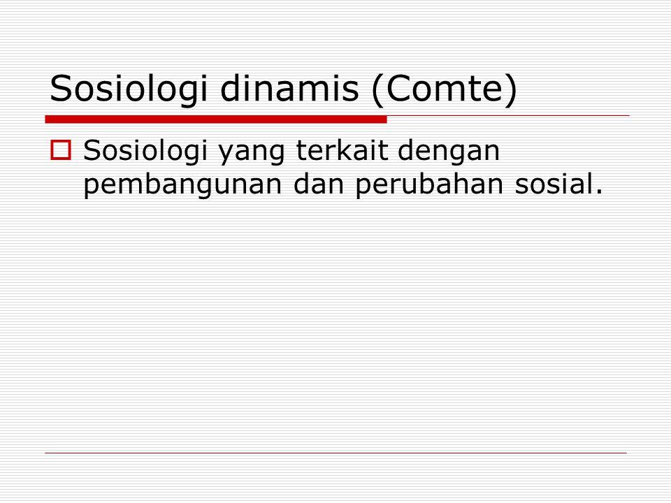 Sosiologi dinamis (Comte)