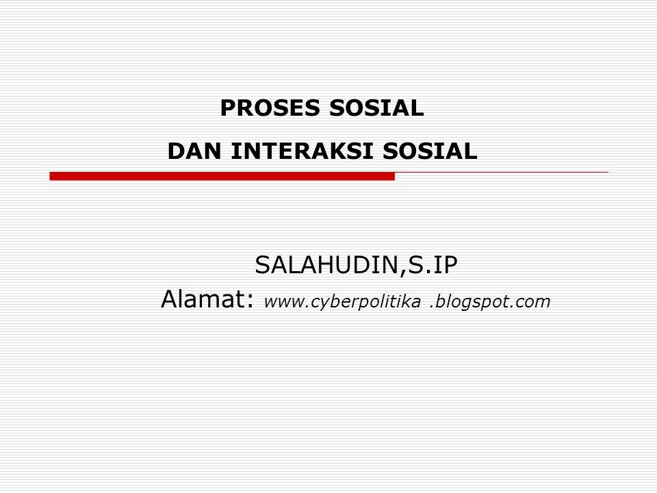 PROSES SOSIAL DAN INTERAKSI SOSIAL
