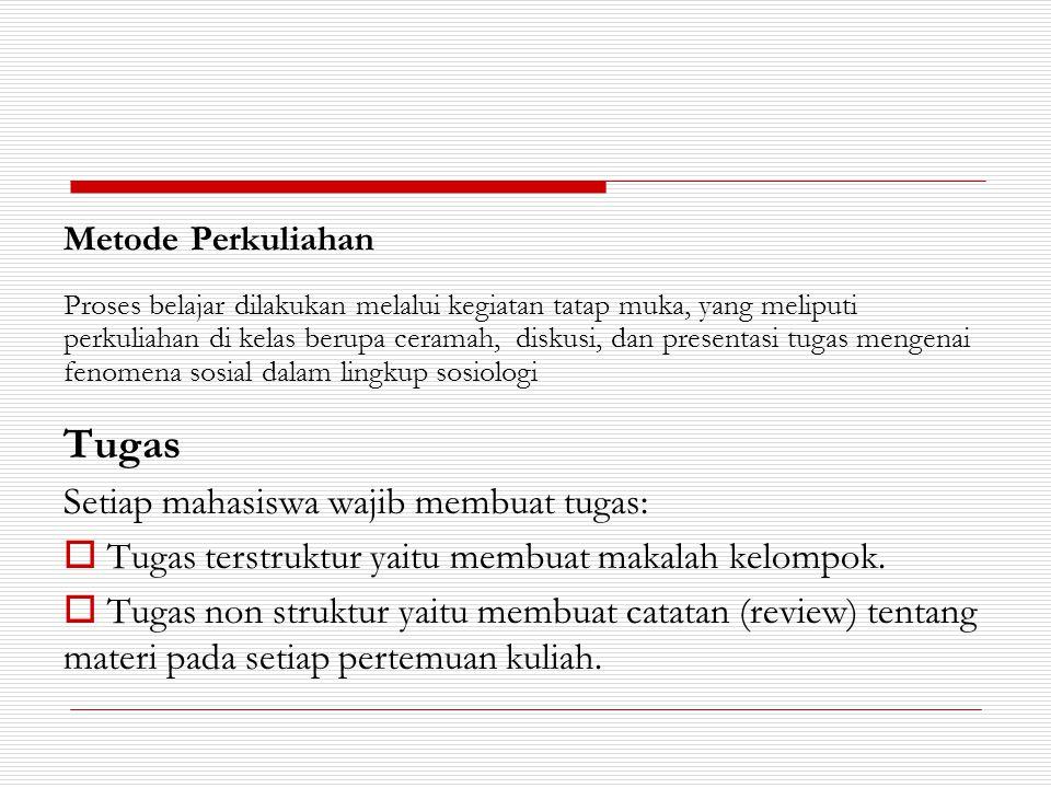Tugas Setiap mahasiswa wajib membuat tugas: