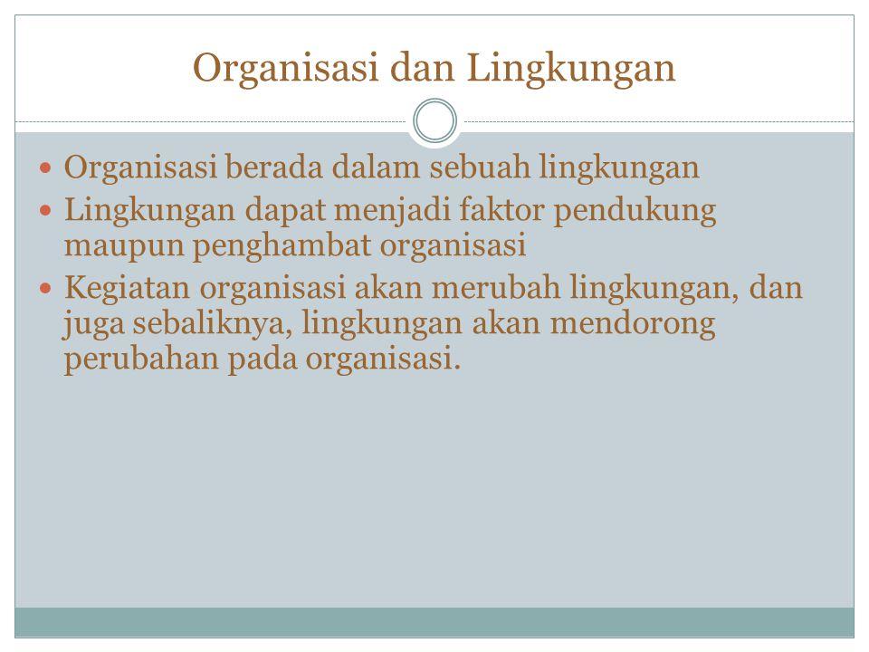 Organisasi dan Lingkungan