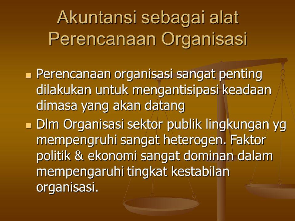 Akuntansi sebagai alat Perencanaan Organisasi