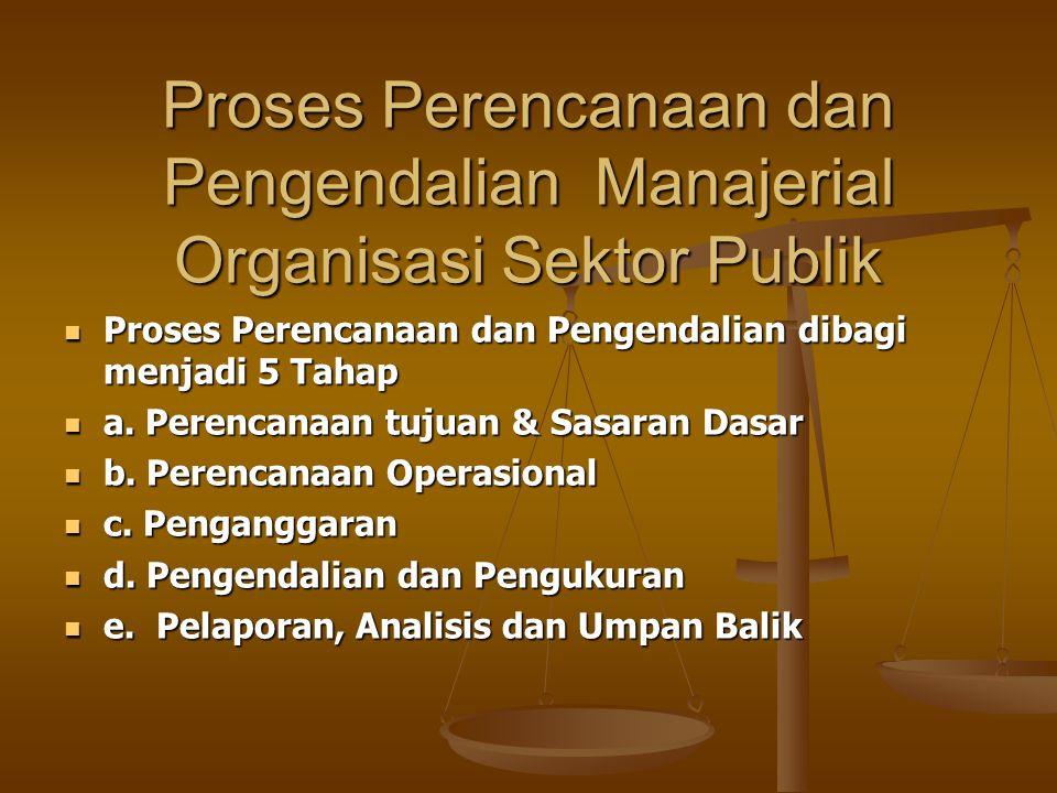 Proses Perencanaan dan Pengendalian Manajerial Organisasi Sektor Publik
