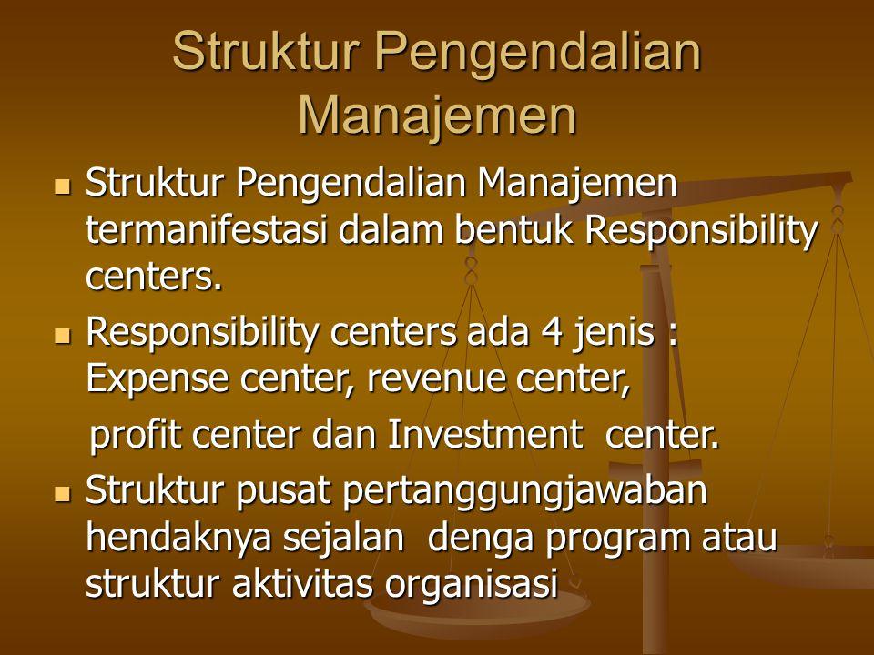Struktur Pengendalian Manajemen