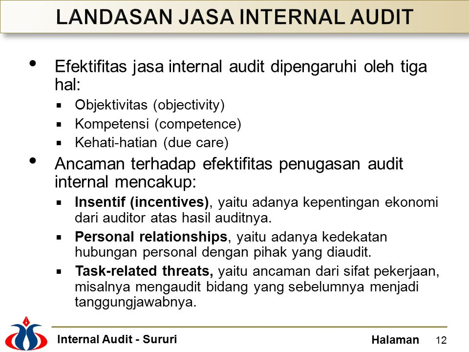 LANDASAN JASA INTERNAL AUDIT
