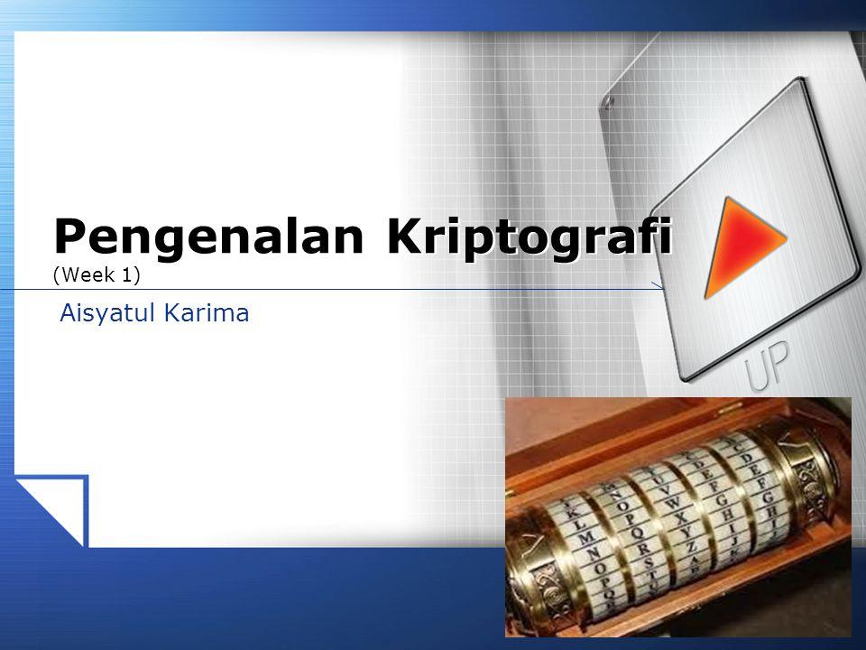 Pengenalan Kriptografi (Week 1)