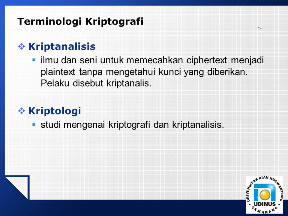 Terminologi Kriptografi