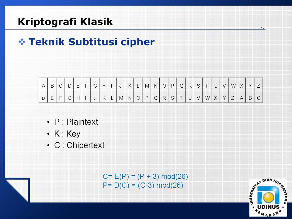 Teknik Subtitusi cipher