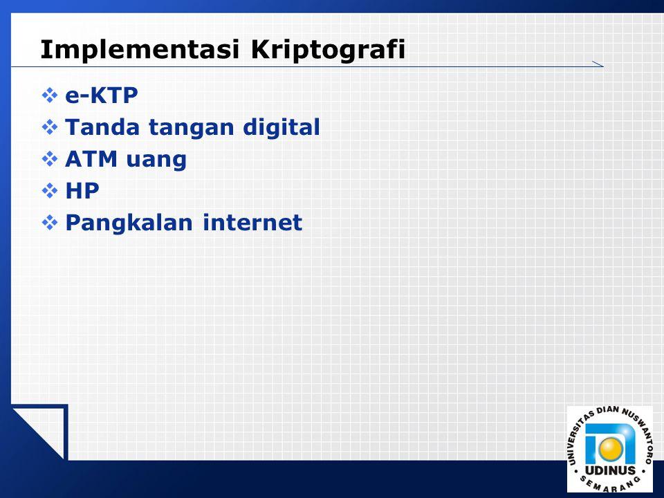 Implementasi Kriptografi